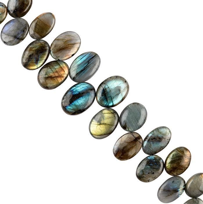 294cts Labradorite Graduated Plain Ovals Approx 14x10 to 23x16mm, 16cm