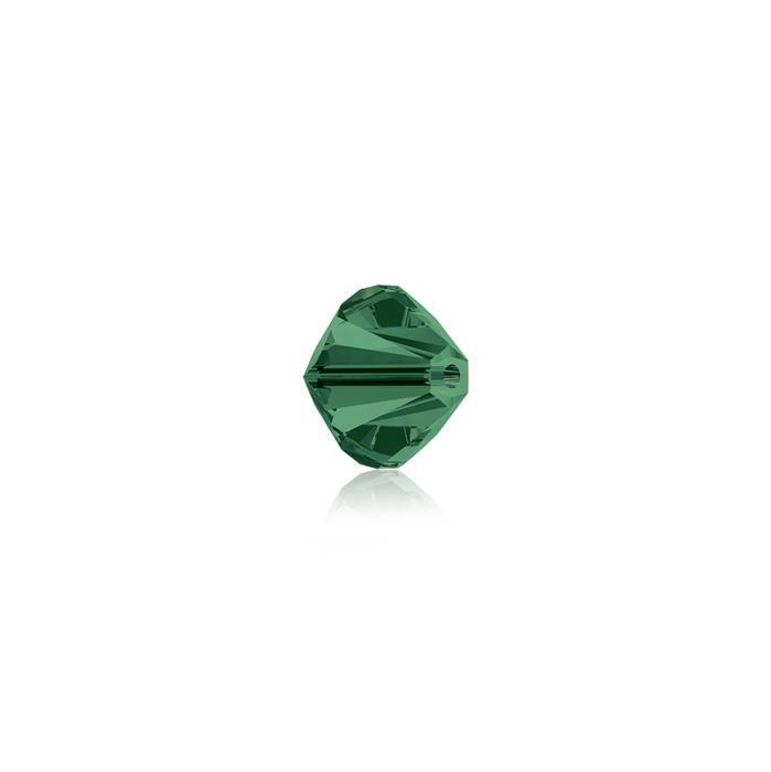 Swarovski Crystal Beads - Pack of 24 Bicones 5328 - 4mm Emerald