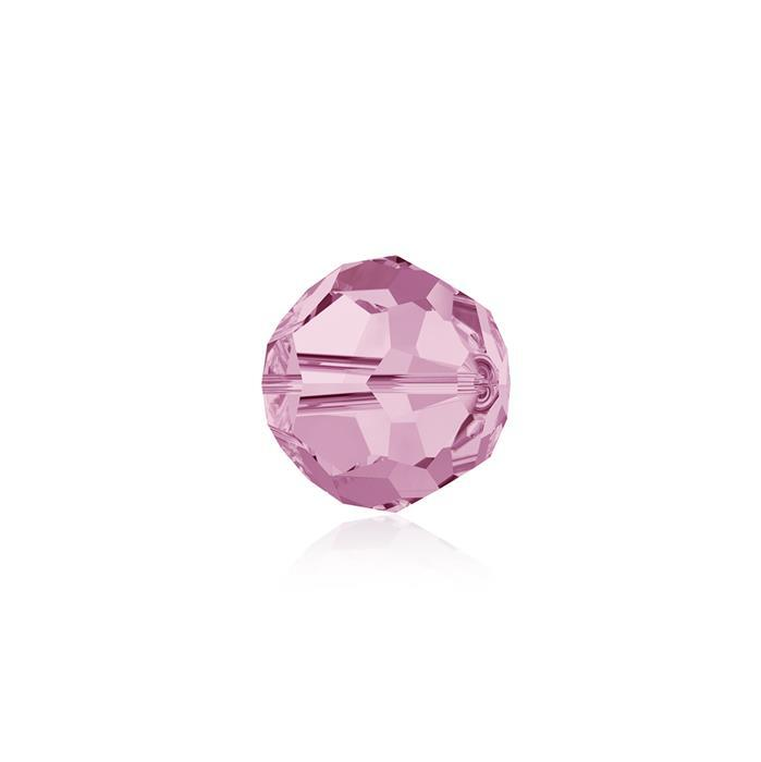 Swarovski Crystal Beads - Pack of 12 Round 5000 - 6mm Light Rose