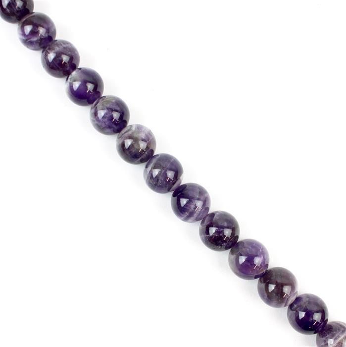 370cts Dog Tooth Amethyst Plain Rounds Approx 12mm, Approx 38cm/strand