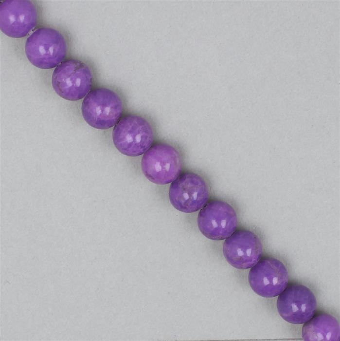 170cts Purple Magnesite Plain Rounds Approx 8mm