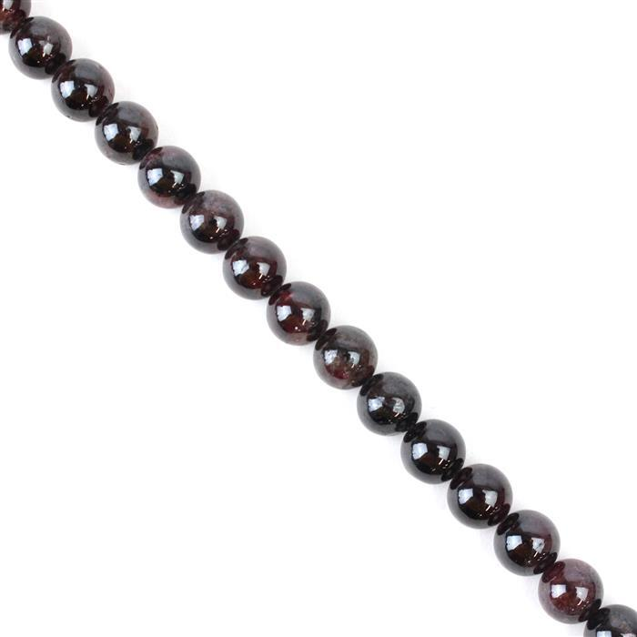 480cts Red Garnet Plain Rounds Approx 11mm, 38cm strand