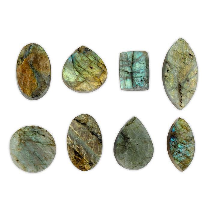 475cts Labradorite Multi Shape Drusy Assortment.