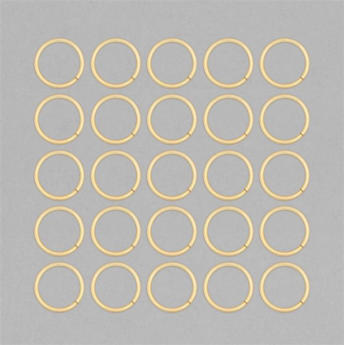 Gold Plated Copper Hollow Open Jump Ring - 30mm & Thickness 3mm (25pcs/pk)
