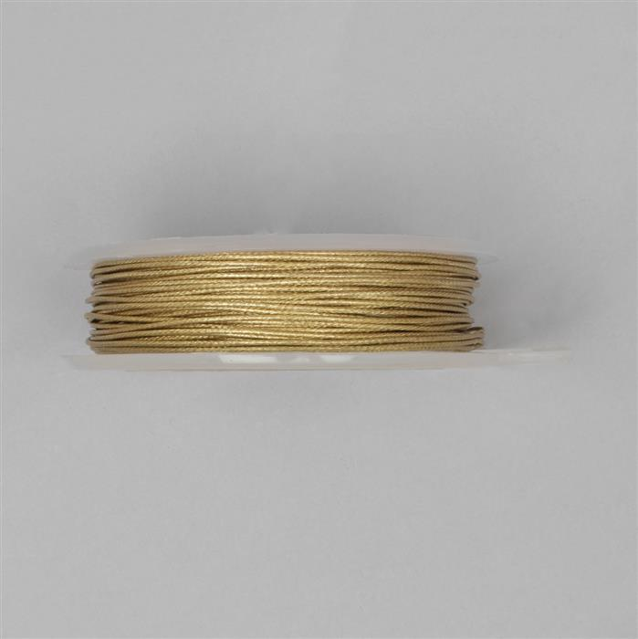 10m Gold Colour Patterned Wire 0.80mm