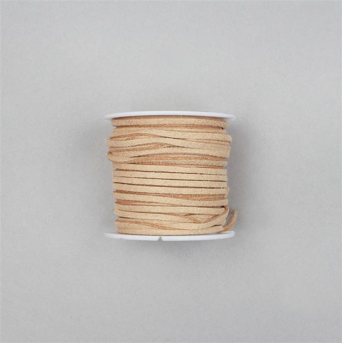 5m Beige Suedette Cord Approx 1.4x2.5mm