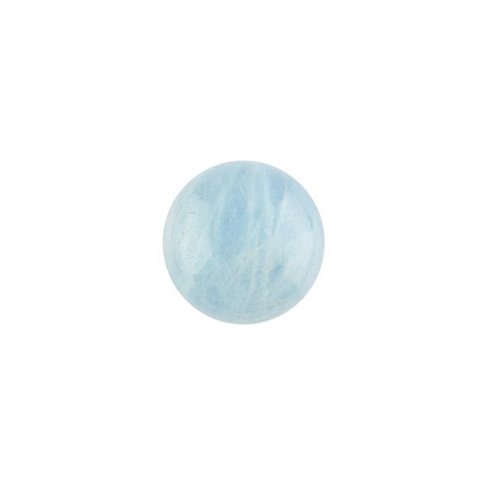6cts Aquamarine Round Cabochon Approx 14mm.