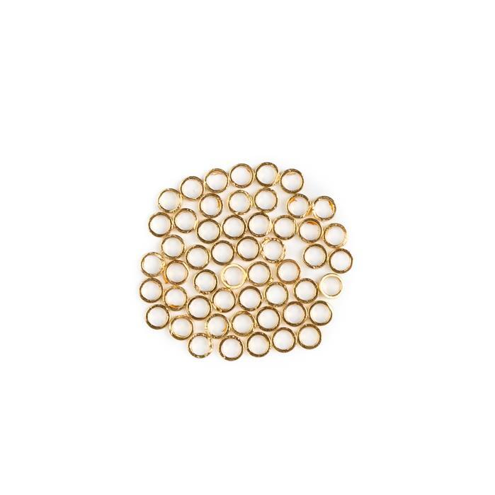 Gold Plated Brass Round Ring Spacers - 3mm (50pcs/pk)