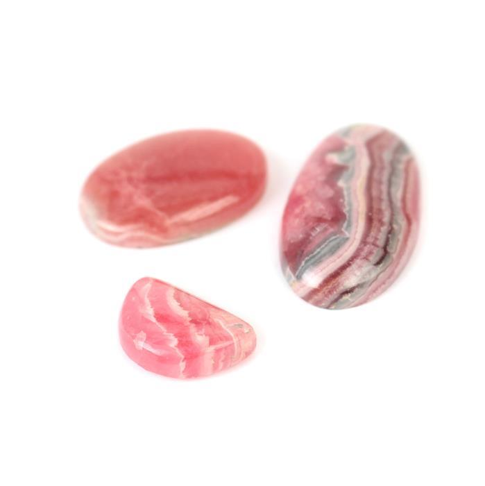 90cts Rhodochrosite Multi Shape Cabochons Assortment.