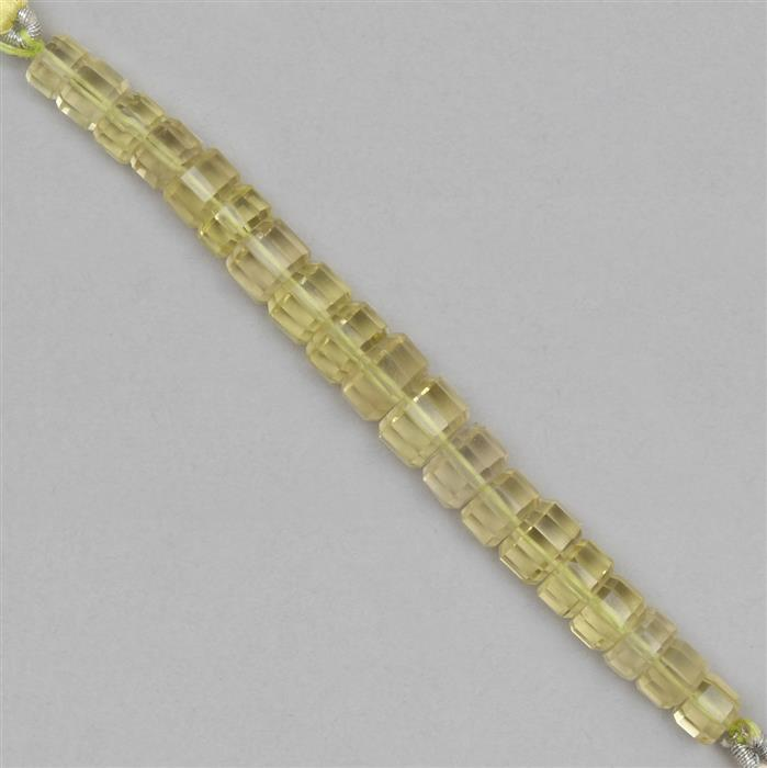 60cts Lemon Quartz The Passo Collection  Approx 5x2 to 9x5mm, 8cm Strand.