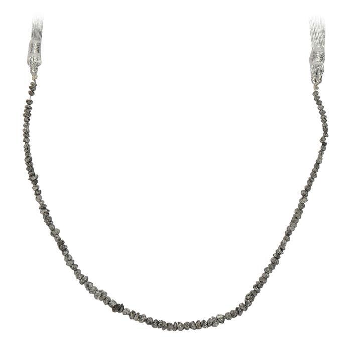 10cts Silver Diamond Graduated Small Nuggets Approx 1x1 to 3x1mm, 18cm Strand.