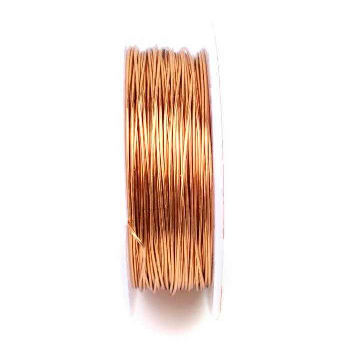 50m Rose Gold Coloured Copper Wire 0.8mm
