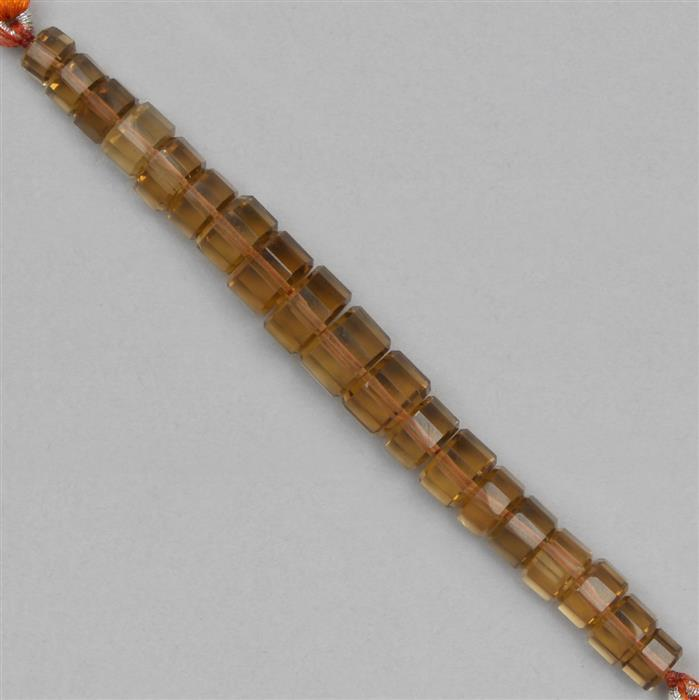 56cts Beer Quartz The Passo Collection Approx 5x3 to 9x6mm, 8cm Strand.