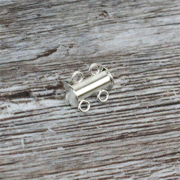 925 Sterling Silver Two Row Clasps Approx 13x11mm (1 pcs)