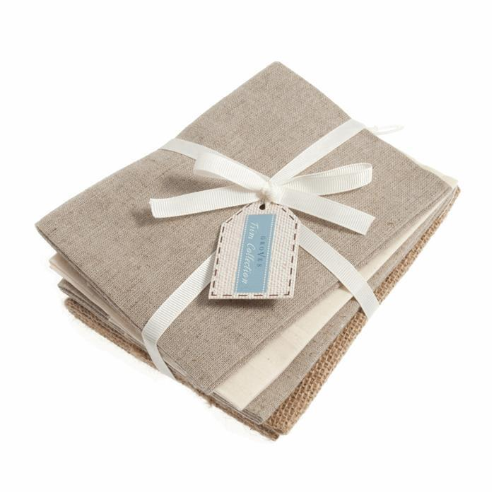 Early Bird Special - Groves Fat Quarter Pack Naturals (4 pcs). Save £1