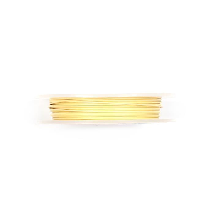 10m Cream Coloured Silver Plated Copper Wire 1.00mm