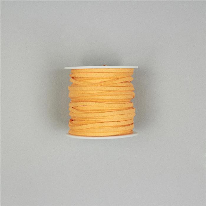 5m Orange Suedette Cord 2.5mm