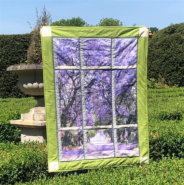 Around The World Jacaranda Tree Emerald Attic Window Kit: Instructions, Panel, Fabric (2m)