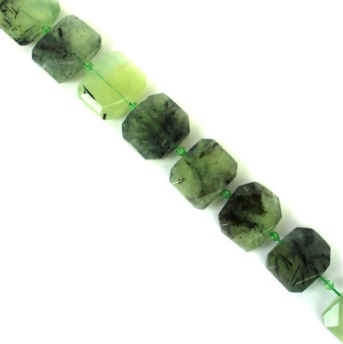 720cts Prehnite Faceted Slabs Approx 19x23~22x26mm, 17pcs per strand