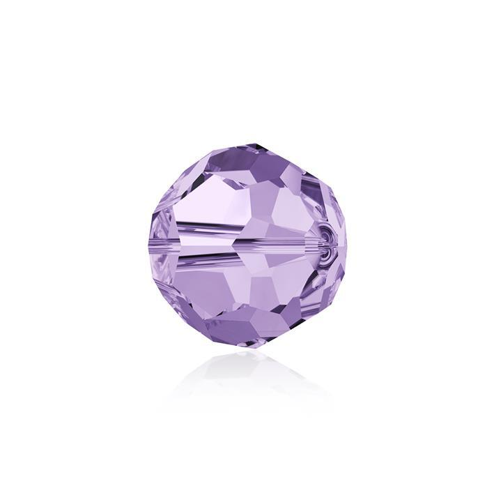 Swarovski Crystal Beads - Pack of 6 Round 5000 - 8mm Violet