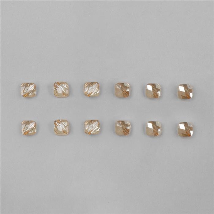 Swarovski Crystal Golden Shadow Mini Rhombus Beads 6mm - 12pk