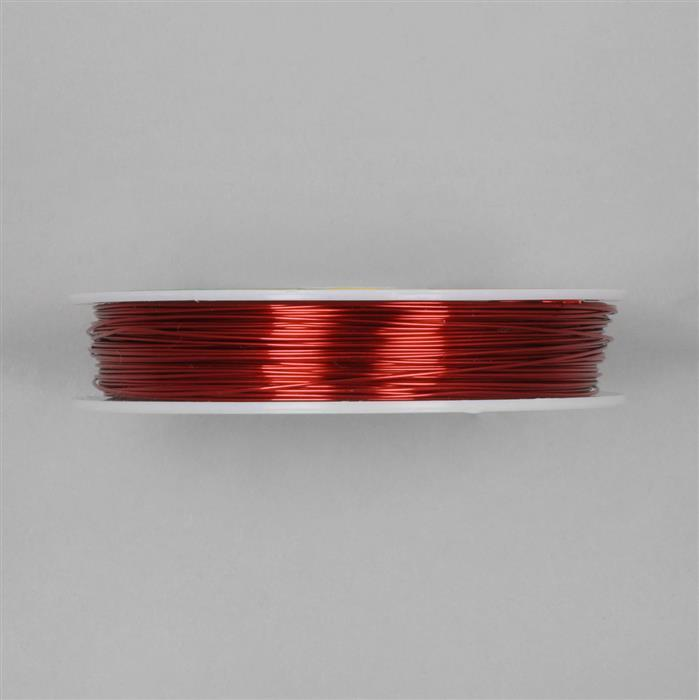 50m Deep Red Coloured Copper Wire Approx 0.60mm