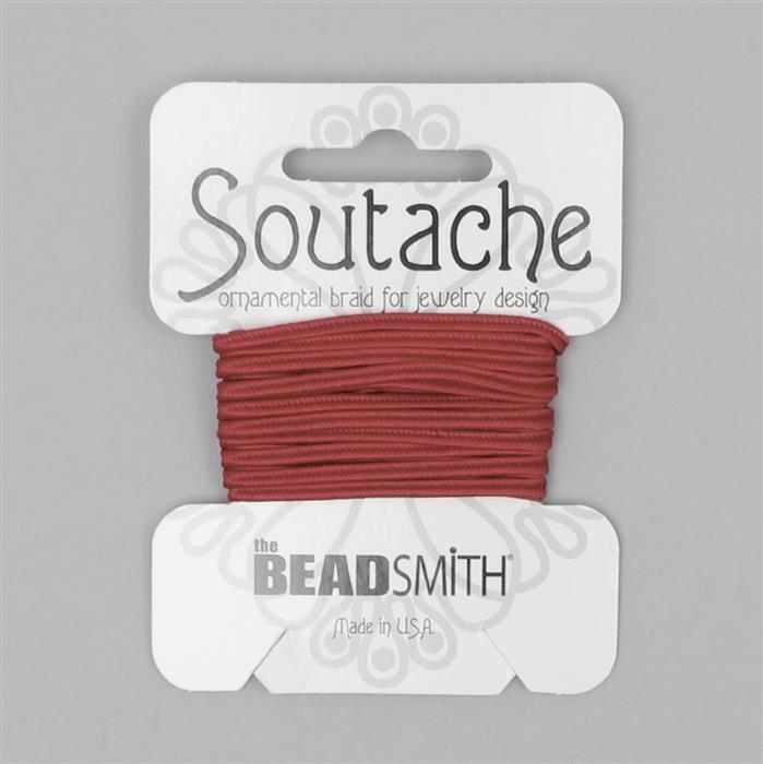 Rose Soutache Cord 3yards 3mm