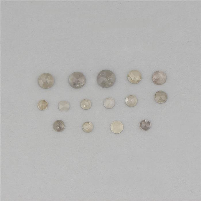 3cts Diamonds Rose Cut Multi Shapes Rounds.