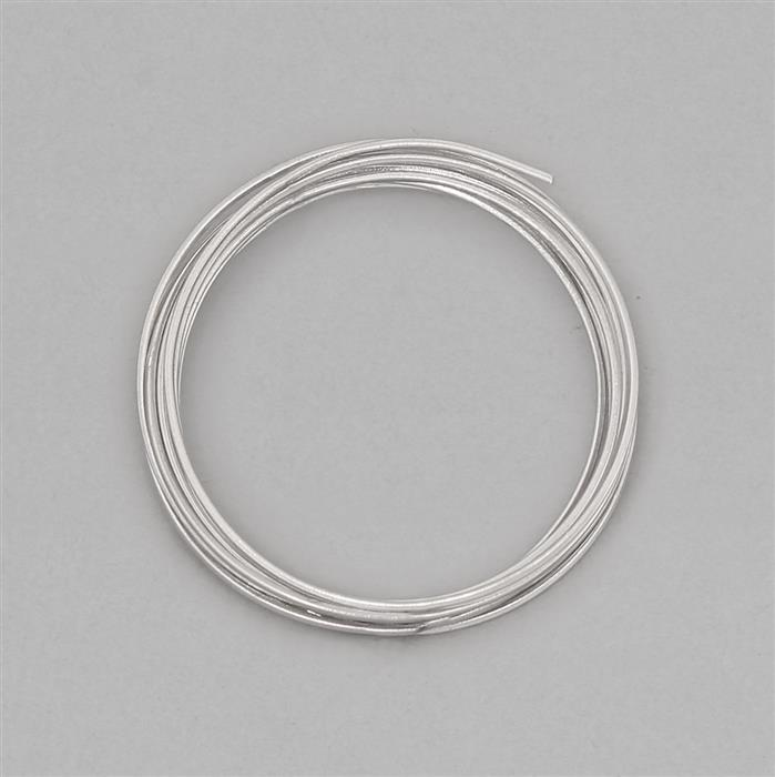 1m 925 Sterling Silver Square Wire With Rhodium Approx 0.6mm