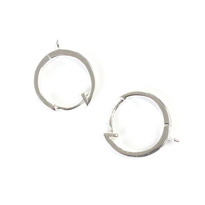 925 Sterling Silver Earring Hoops Approx13mm 1 Pair