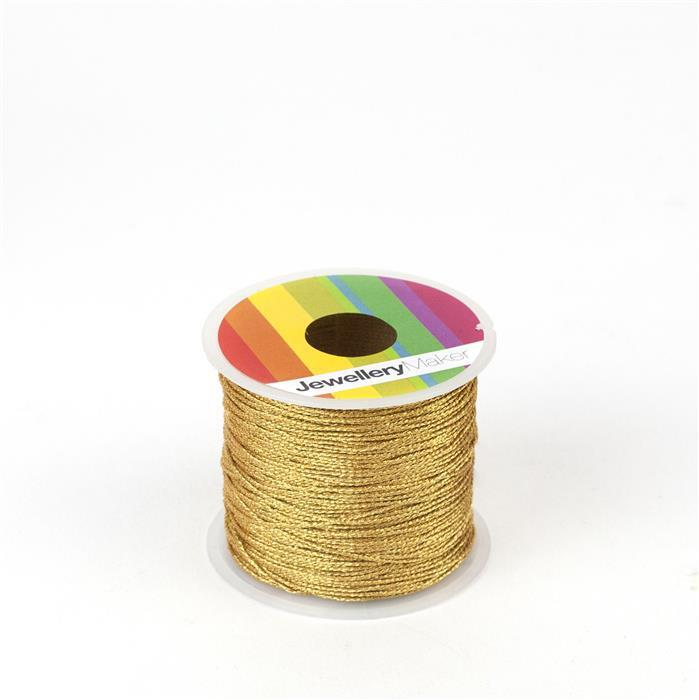 Gold Sparkle Nylon Thread, Approx 0.9mm (30m)