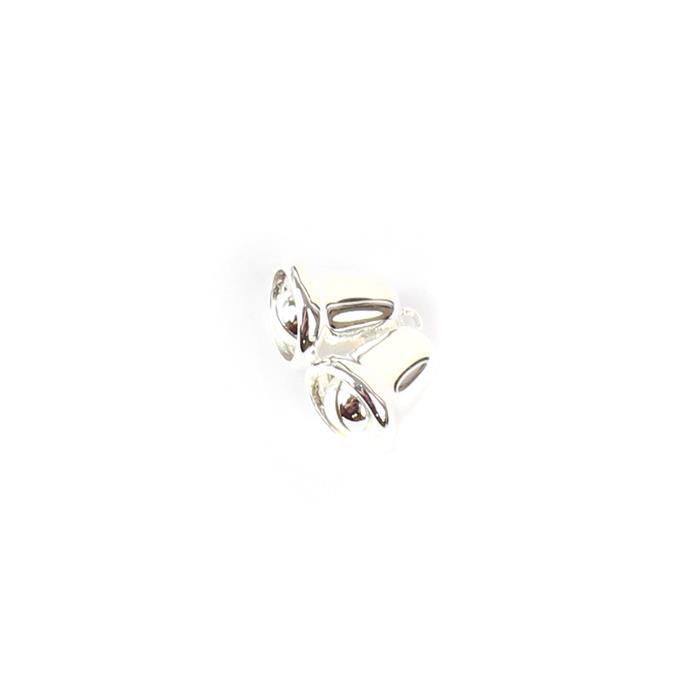 925 Sterling Silver Double Bell Charm Approx 11x17mm, 1pc