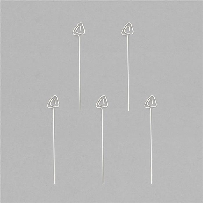 925 Sterling Silver Arrow Headpins Approx 38x6mm (5pcs)