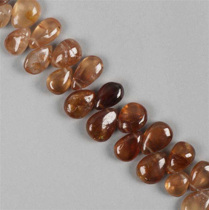 120cts Shaded Zircon Graduated Plain Pears Approx 5x4 to 10x7mm, 20cm Strand.