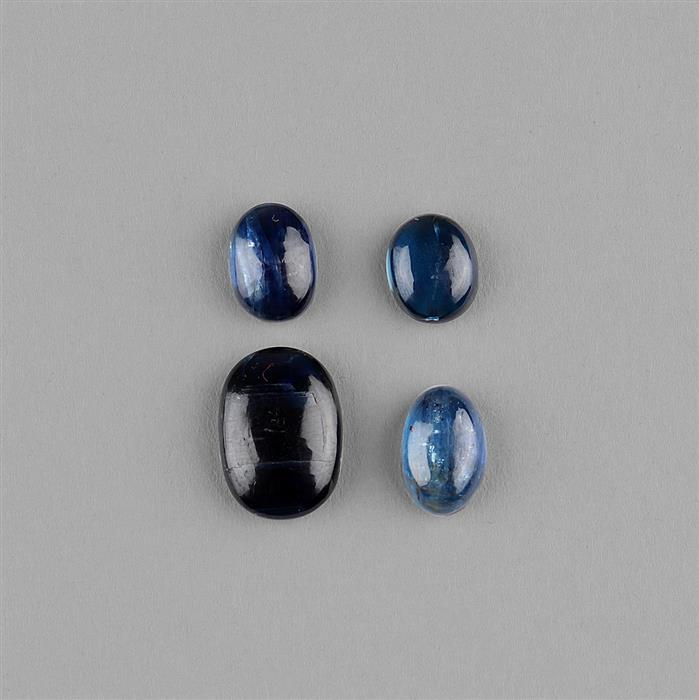 15cts Kyanite Multi Size Oval Cabochons Assortment.