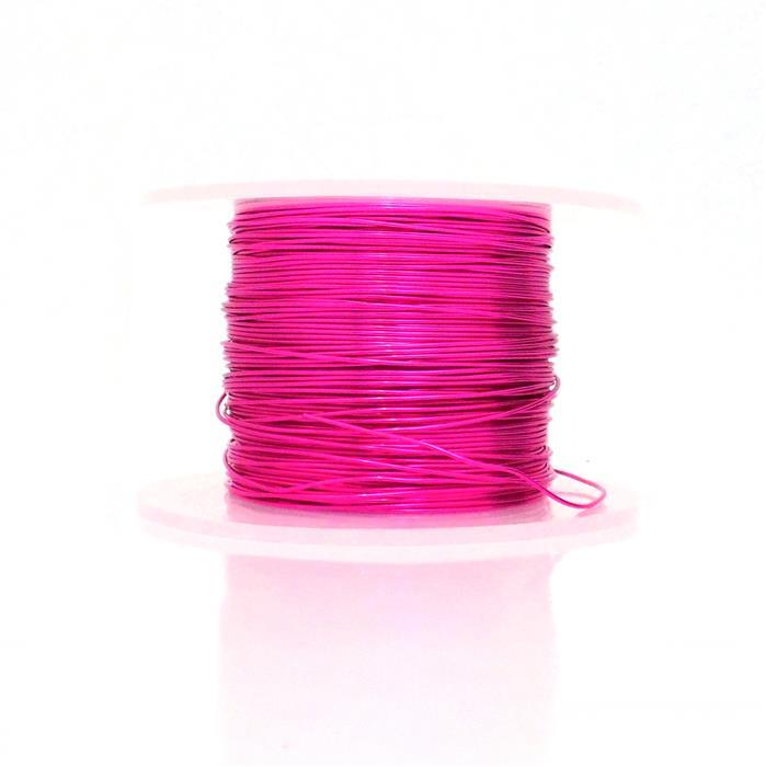 50m Fuchsia Coloured Copper Wire 0.80mm