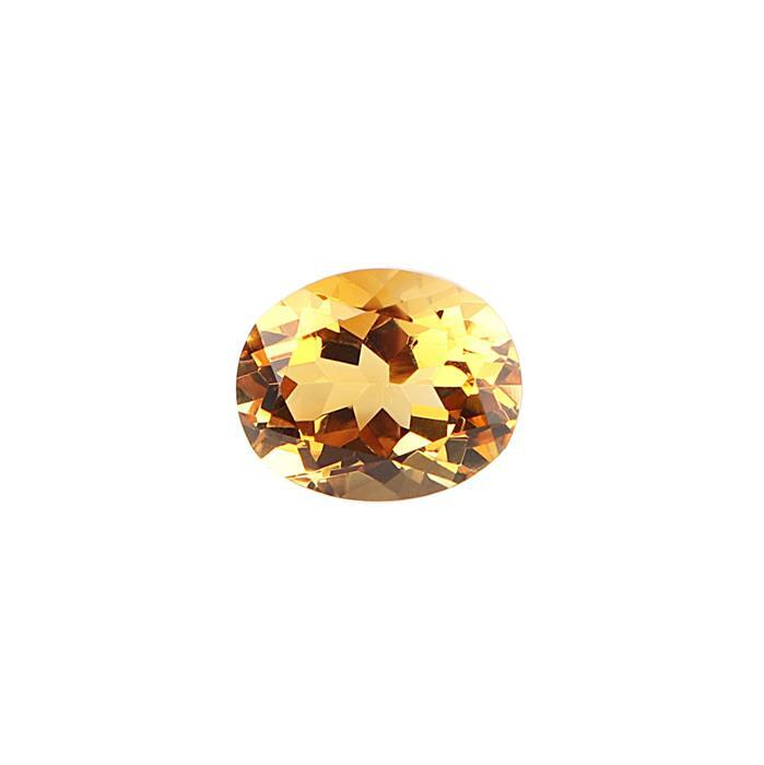 2.50cts Citrine Brilliant Cut Oval 11x9mm.