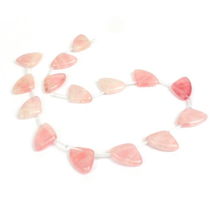 170cts Rose Quartz Fancy Fans, Approx 22x15mm, Approx 15 stones