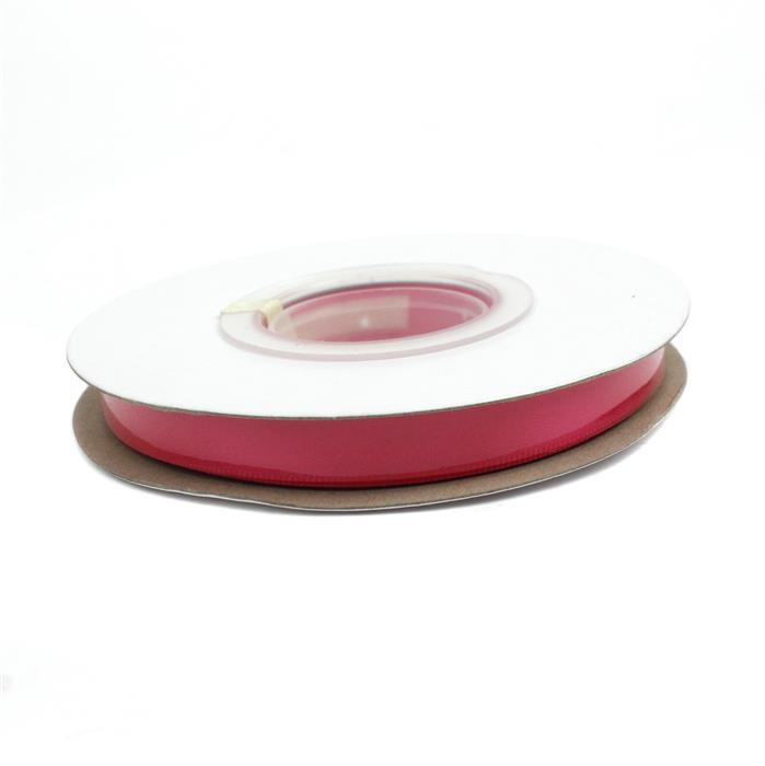 20m Shocking Pink Double Faced Satin Ribbon, Width Approx 9mm