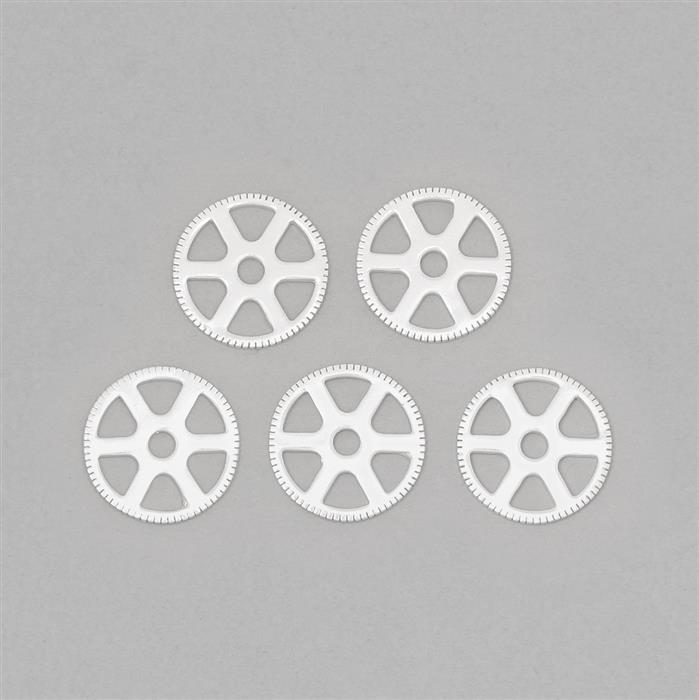 Silver Plated Brass Steampunk Wheel Finding Approx 20mm (5pcs)
