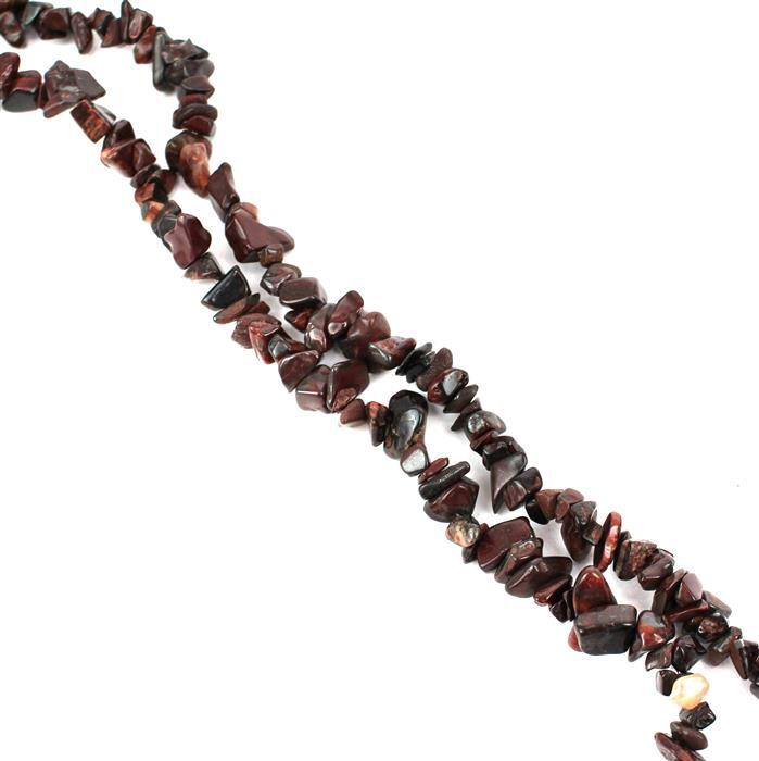 320cts Poppy Jasper Small Nuggets Approx 5x3mm to 12x7mm, 84cm Strand