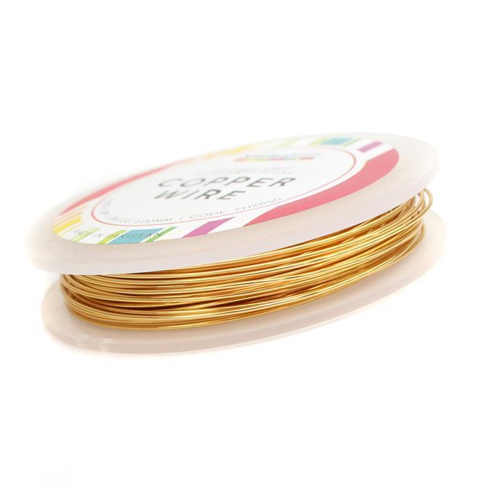 10m Gold Coloured Copper Wire 1.0mm