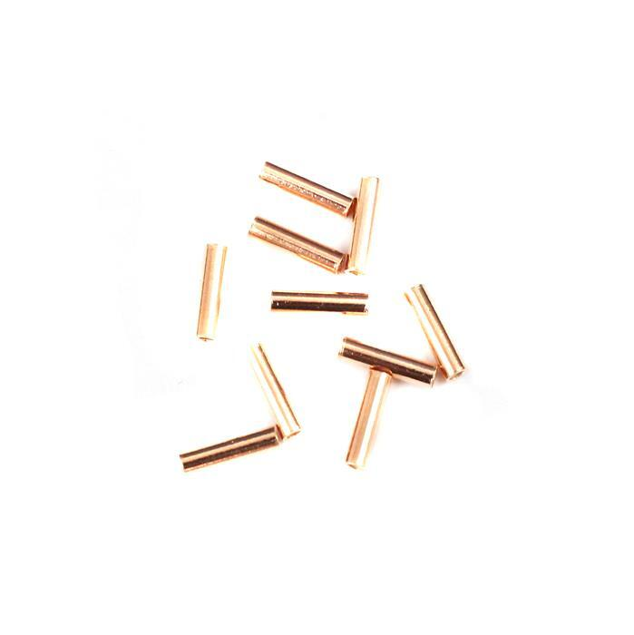 Rose Gold Plated 925 Sterling Silver Rose Gold Tubes Approx 1x7mm 10 Pcs