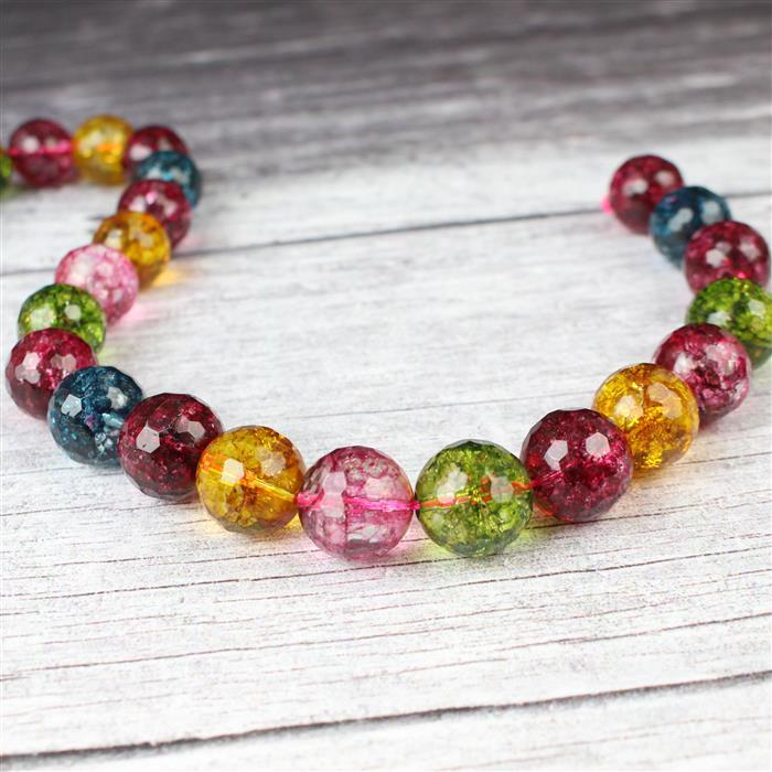 650cts Multi-Colour Quartz Faceted Rounds Approx 16mm 38cm strand