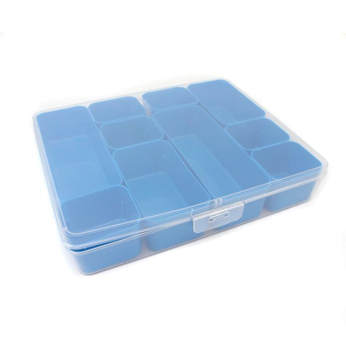 Q-line Blue mixed Divider Box Incl. 10 Demountable Baskets