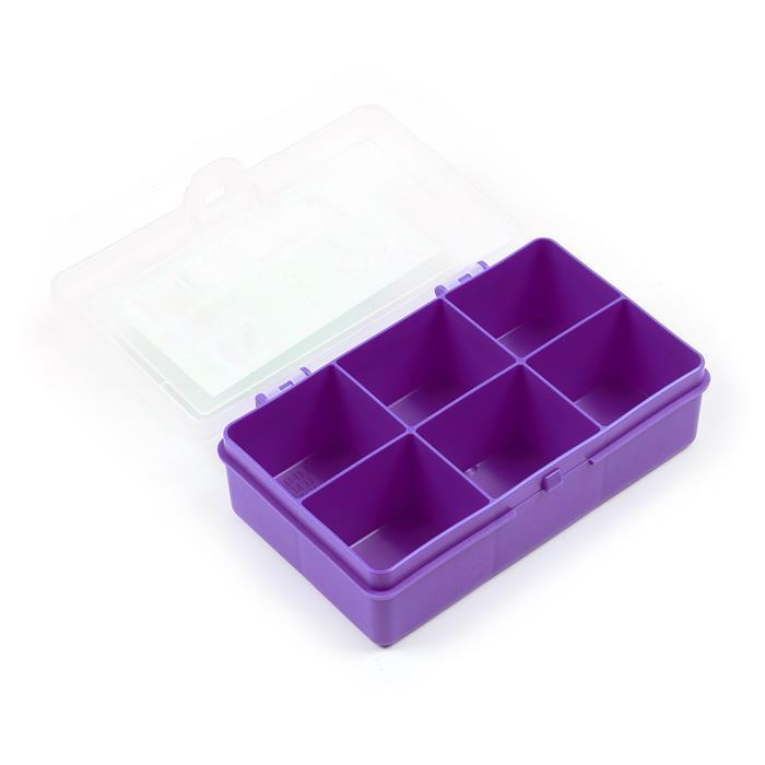 Violet Organiser Box with 5 Divisions 14.5x9.5x4cm