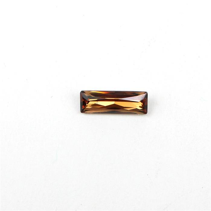 Swarovski Baguette 4547, Light Smoked Topaz, 15x5mm, 1pk