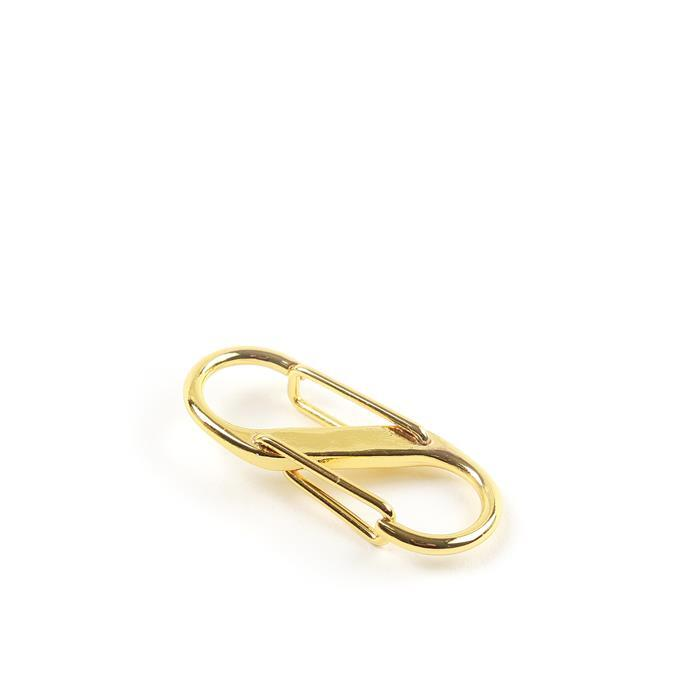 Gold Colour Base Metal S-Clasp, Approx 33x14mm (1pc)