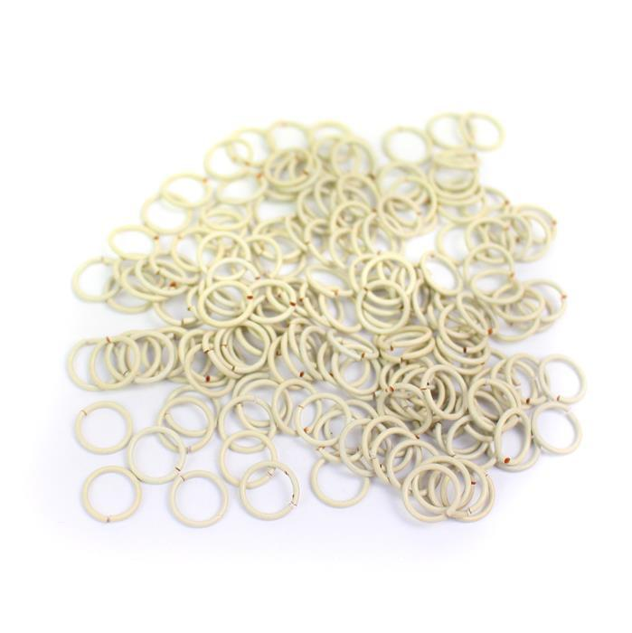 White Pastel Coloured Copper Open Jump Rings Approx 7mm ( 200 pcs )