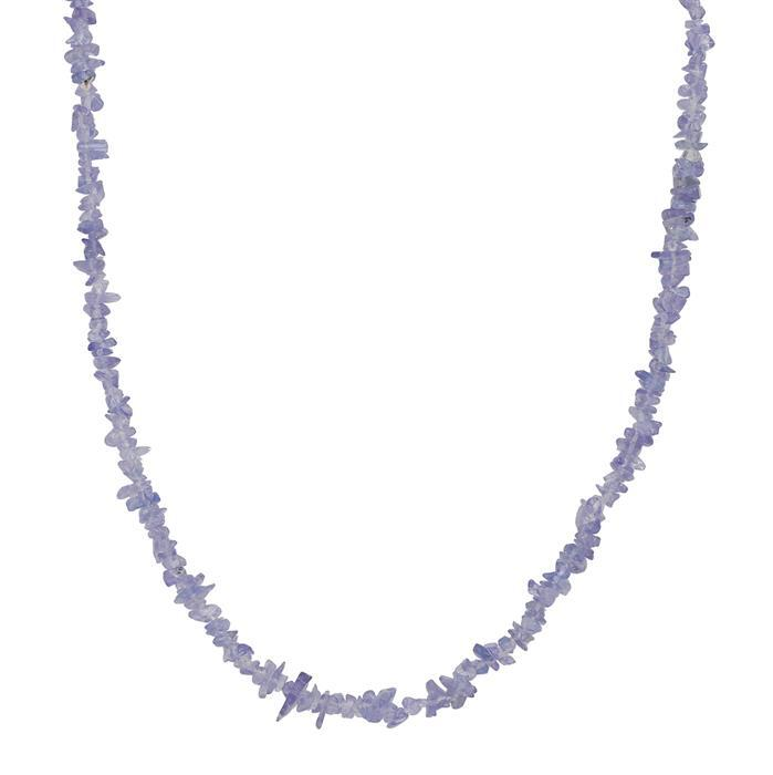 110cts Tanzanite Plain Small Nuggets Approx 1x1 to 9x2mm, 86cm Strand.